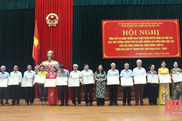 TP Thanh Hóa: Hiệu quả trong phong trào xây dựng gia đình, dòng họ, khu dân cư học tập