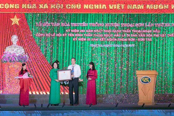 Lễ hội Kỳ yên đình thần Thoại Ngọc Hầu được đưa vào danh mục Di sản văn hóa phi vật thể cấp quốc gia