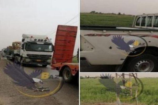 Đoàn xe tải hạng nặng của Mỹ chở xe bọc thép và vũ khí bất ngờ bị tấn công khi đến mỏ dầu Syria