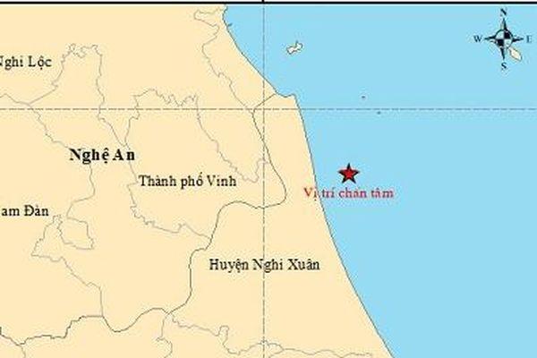 Động đất ở ngoài khơi khu vực biển Hà Tĩnh