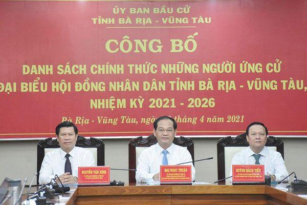 Danh sách chính thức 85 người ứng cử đại biểu HĐND tỉnh nhiệm kỳ 2021-2026