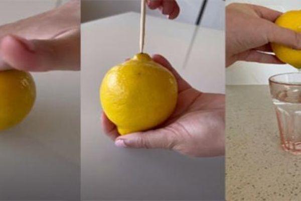Mẹo vắt chanh siêu đơn giản mà không cần cắt đôi