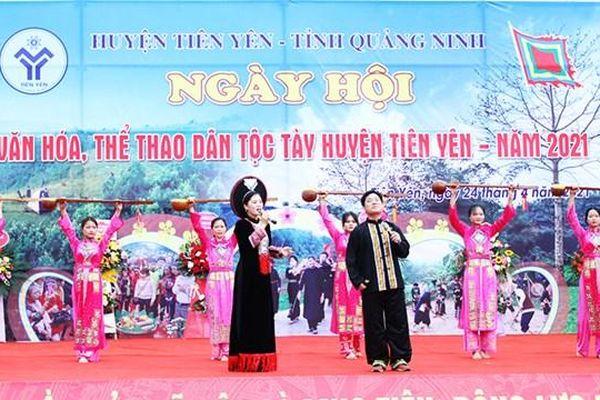 Quảng Ninh: Khai mạc 'Ngày hội văn hóa thể thao dân tộc Tày'