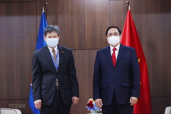 Thủ tướng Phạm Minh Chính hội kiến Tổng Thư ký ASEAN Lim Jock Hoi
