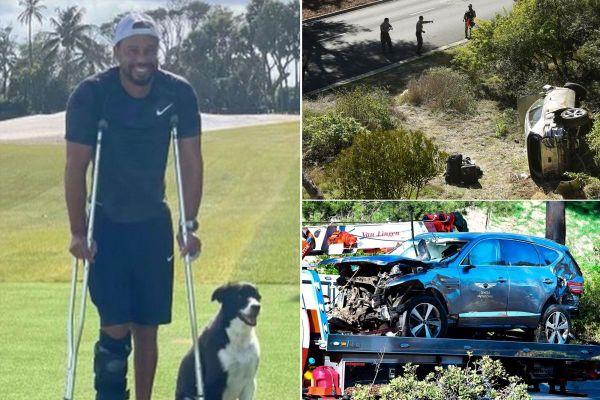 Tiger Woods lần đầu xuất hiện sau vụ tai nạn kinh hoàng