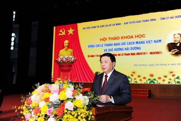 Đồng chí Lê Thanh Nghị - nhà cách mạng tài năng, tiêu biểu của Đảng