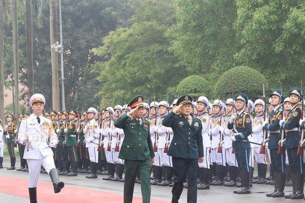 Lễ đón Bộ trưởng Quốc phòng Trung Quốc thăm chính thức Việt Nam