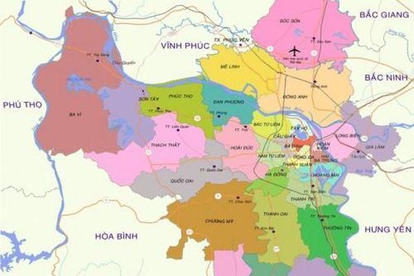 Tới năm 2030, Hà Nội dự kiến có thêm 7 quận và 1 thành phố trực thuộc thủ đô