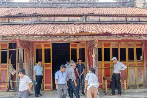 Nghiên cứu tu bổ, phục hồi ngôi miếu thờ 9 vị chúa Nguyễn