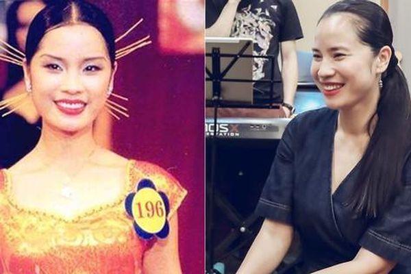 Á hậu 'đông con nhất showbiz' Ngô Thúy Hà bất ngờ tái xuất xinh đẹp ở tuổi 40