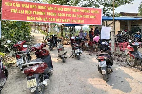 Ấn định thời gian một tháng để Cty Hùng Vân di dời toàn bộ trại heo