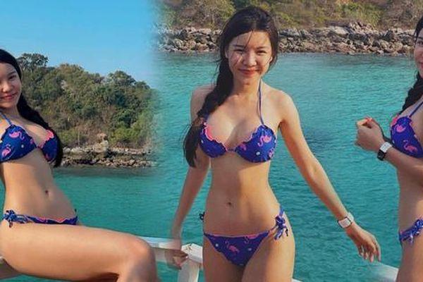 Bạn gái hotgirl của Đặng Văn Lâm tung ảnh bikini gây 'sốt'
