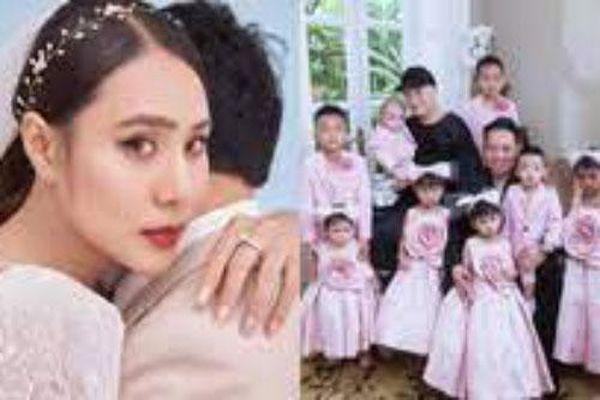 Hồ Bích Trâm tung ảnh cưới xinh đẹp, Đỗ Mạnh Cường khoe khoảnh khắc hạnh phúc bên các con
