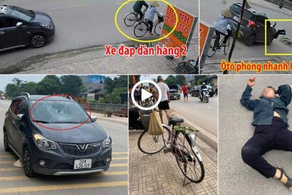 Đi xe đạp dàn hàng 2, cụ bà bị ôtô Vinfast phóng nhanh húc 'bay'
