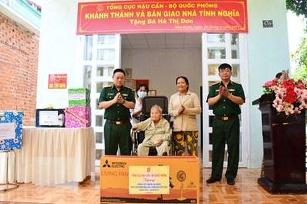 Tổng cục Hậu cần thực hiện các hoạt động an sinh xã hội tại Tây Ninh