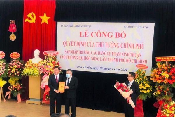 Sáp nhập Trường CĐ Sư phạm Ninh Thuận vào Phân hiệu ĐH Nông Lâm TP.HCM