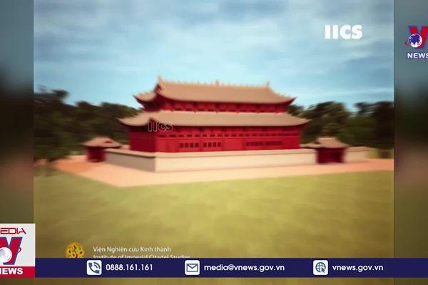 Phục dựng hình ảnh 3D Hoàng cung Thăng Long thời Lý