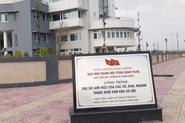 Thang máy tại Khu hành chính mới tỉnh Kon Tum liên tục bị tuột cáp