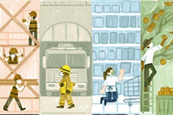 Google Doodle thay giao diện mừng Ngày Quốc tế Lao động năm 2021