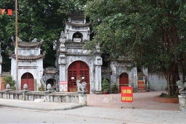 Hưng Yên đóng cửa Khu di tích Phố Hiến để phòng, chống dịch COVID-19