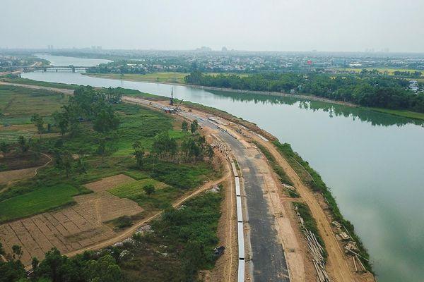 Tuyến đường ven sông 500 tỷ ở Đà Nẵng chậm tiến độ