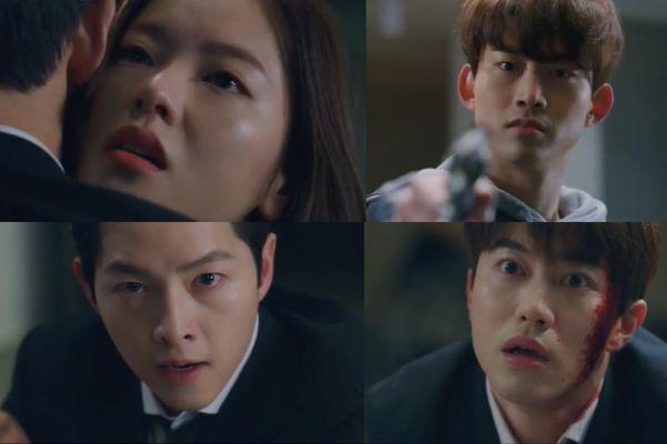 'Vincenzo' tập 19: Jeon Yeo Bin đỡ đạn cho Song Jong Ki trước mũi súng của Ok Taecyeon