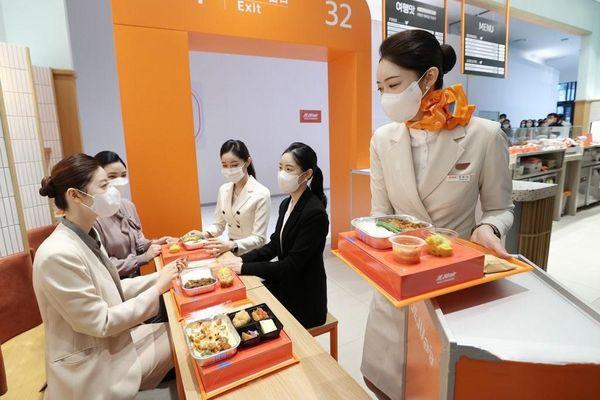 Hãng hàng không Hàn Quốc bán suất ăn máy bay trên đất liền