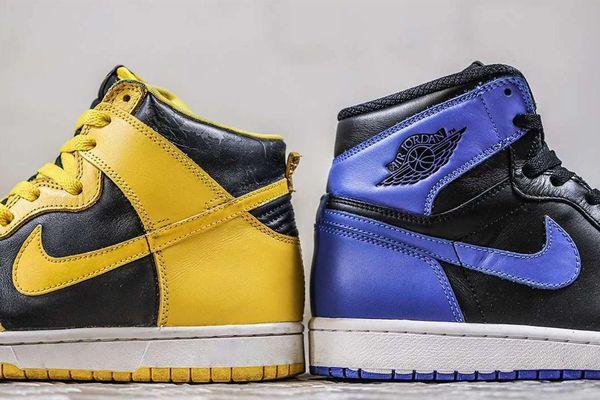 Giày Air Jordan 1 và Nike Dunk khác nhau thế nào?