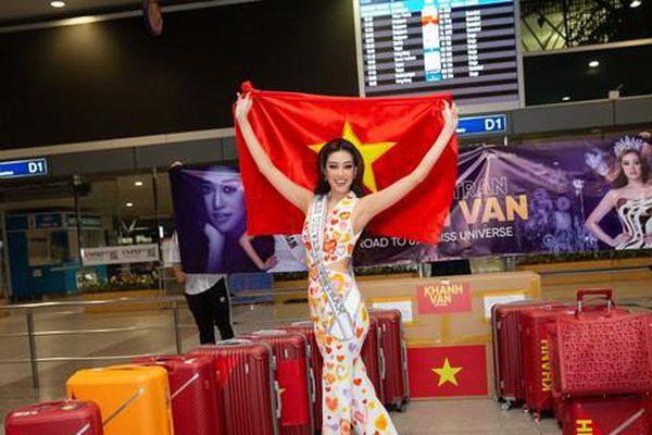 Hoa hậu Khánh Vân chính thức lên đường sang Mỹ chinh phục Miss Universe