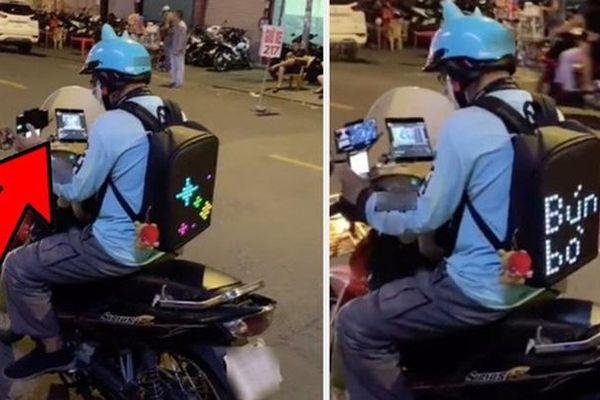 Bắt gặp chàng shipper 'chịu chơi' nhất Việt Nam, tính 'sương sương' đồ công nghệ cũng đến 60 triệu đồng