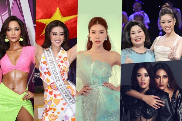 NSND Hồng Vân, Võ Hoàng Yến, Minh Tú, H'Hen Niê cổ vũ Khánh Vân thi Miss Universe 2020