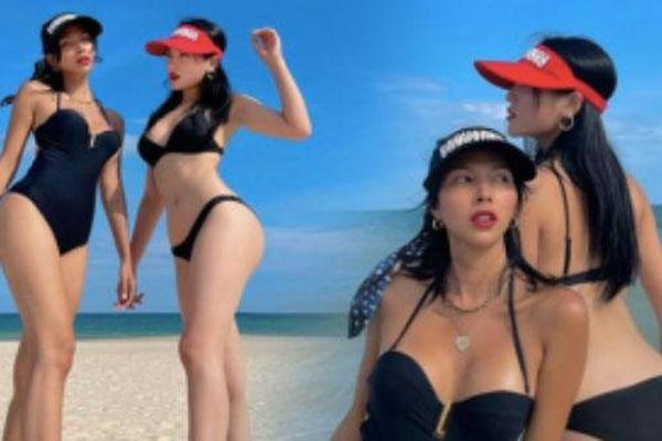 Kỳ Duyên - Minh Triệu thả dáng siêu 'nóng bỏng' với bikini đôi khiến fan trầm trồ