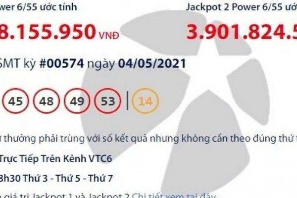Kết quả xổ số Vietlott 4/5: Tìm người sở hữu tấm vé may mắn hơn 33 tỷ
