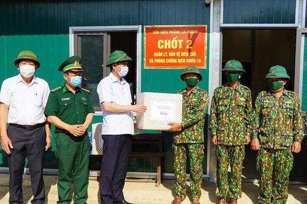 Đồng chí Chủ tịch UBND tỉnh kiểm tra công tác phòng, chống dịch Covid -19 khu vực biên giới