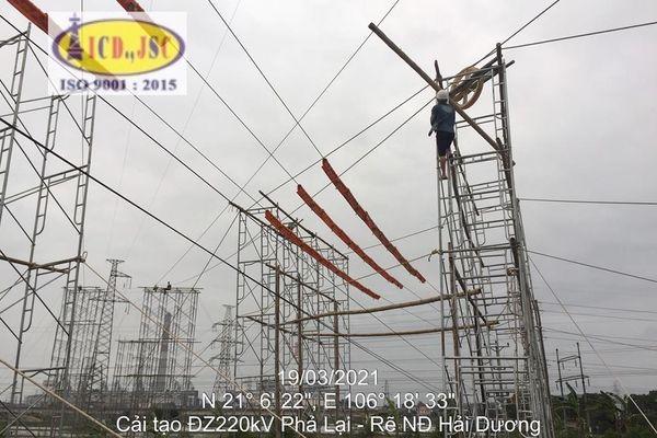 Hoàn thành cải tạo đường dây 220kV Phả Lại – rẽ Nhiệt điện Hải Dương