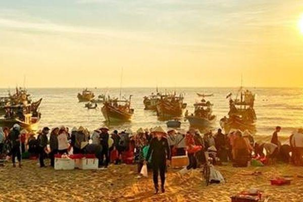 Đi chợ biển Nhân Trạch
