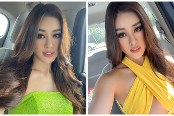 Hoa hậu Khánh Vân mặc gợi cảm ở Miss Universe 2020