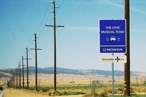 Những con đường đặc biệt phát ra âm nhạc khi ô tô chạy qua