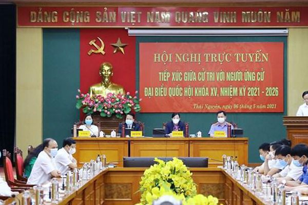 Thái Nguyên: Tổ chức trực tuyến tiếp xúc giữa cử tri với người ứng cử