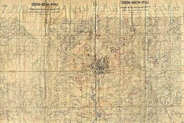 Tấm bản đồ đặc biệt trong Chiến dịch Điện Biên Phủ
