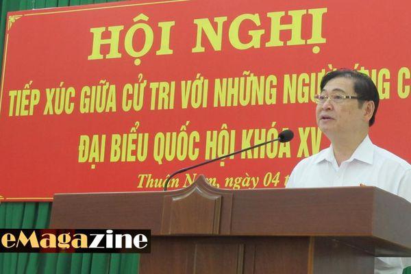 Chương trình vận động bầu cử của ứng viên ĐBQH - Chủ tịch VUSTA Phan Xuân Dũng