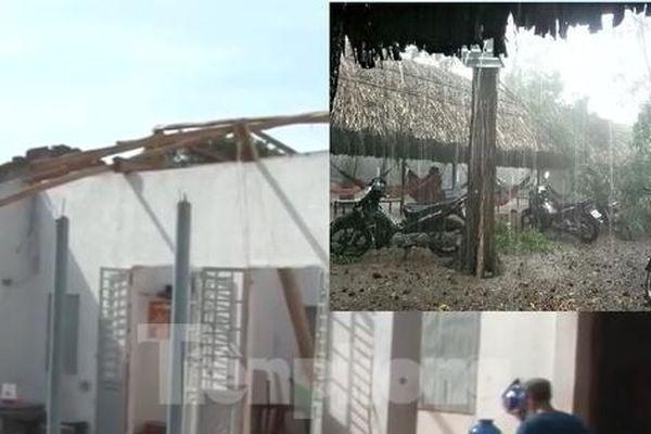 Bình Dương, Bình Phước mưa lớn làm hàng chục căn nhà bay mái, cột điện đổ sập