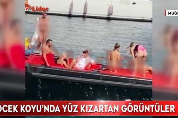 Nhức mắt cảnh nhóm phụ nữ khỏa thân chụp ảnh trên du thuyền Thổ Nhĩ Kỳ