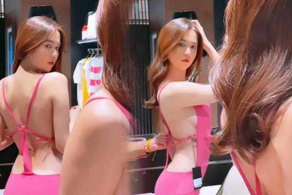 Ngọc Trinh không mặc nội y khi thử đồ, tự tin 100% về body hoàn mỹ