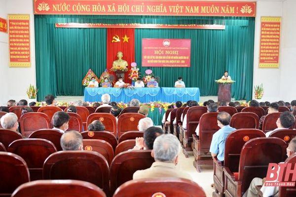 Ứng cử viên HĐND tỉnh tiếp xúc cử tri, vận động bầu cử tại huyện Hà Trung