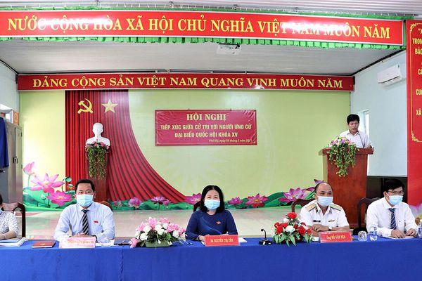 Ứng cử viên ĐBQH khóa XV tiếp xúc cử tri xã Tân Hòa, Tân Hải và phường Phước Hòa