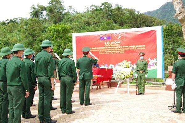Lễ đón 16 hài cốt liệt sỹ hy sinh tại Lào