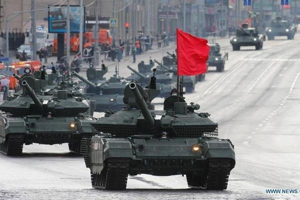 Hơn 190 khí tài tại Matxcơva diễn tập duyệt binh Ngày Chiến thắng