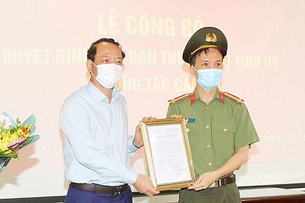 Bắc Ninh: Công bố Quyết định của Ban Thường vụ Tỉnh ủy về công tác cán bộ