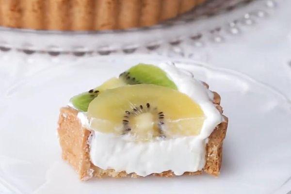 Học làm bánh tart vị kiwi thơm ngon đãi khách